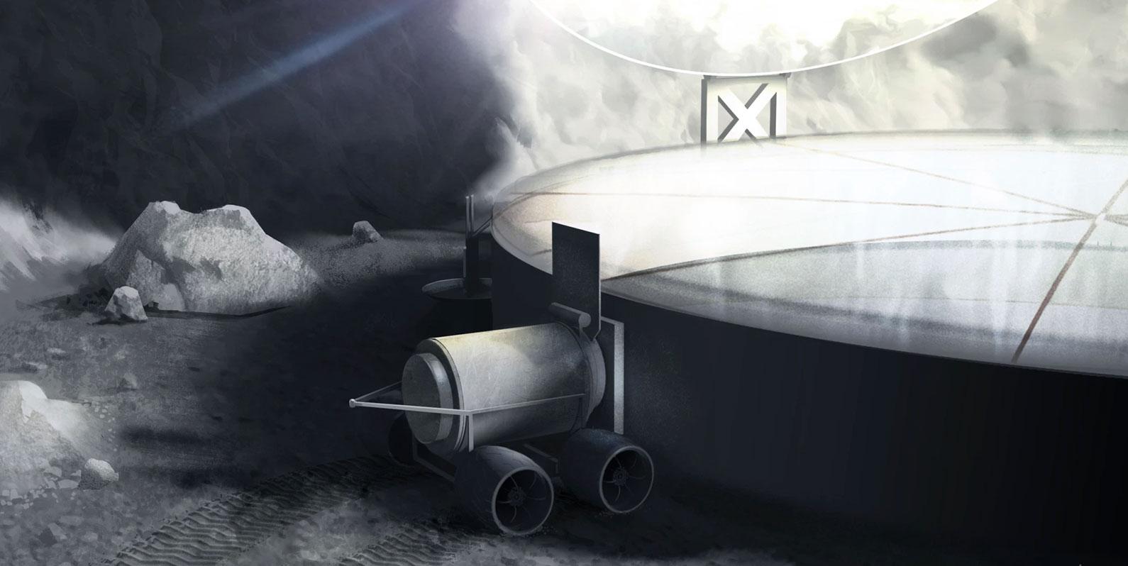 Veja como poderíamos minerar a Lua em busca de combustível para foguetes