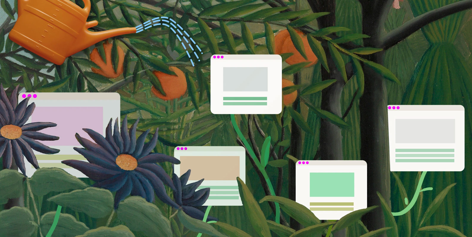Jardins digitais permitem cultivar seu próprio cantinho de internet