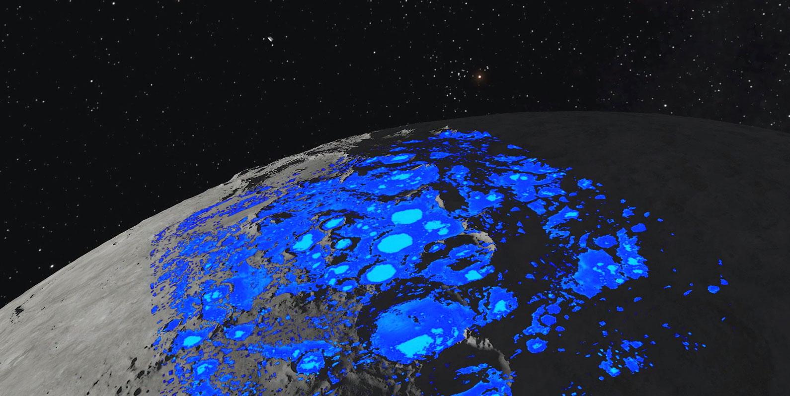A água lunar parece ser mais acessível do que pensamos