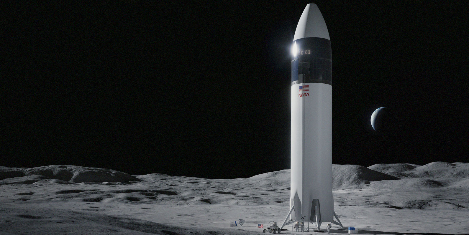 A NASA selecionou a Starship da SpaceX para levar astronautas à Lua