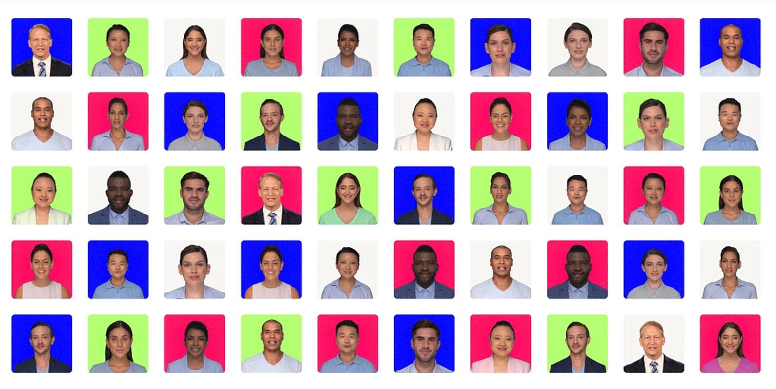 Aluguel de rostos reais para criação de clones de deepfake em ações de marketing